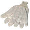 Gloves Canvas Gloves: Anchor Brand - 1000 Series Canvas Gloves, Large, White, Knit-Wrist Cuff