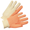 Gloves Canvas Gloves: Anchor Brand - Dotted Canvas Gloves, Cotton Canvas, Large, White/Orange