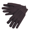 Anchor Brand Jersey Gloves, Mens, 100% Cotton W/Fleece Lining, Brown/Red ANR 101-1250