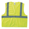Anchor Brand Class 2 Super Econo Safety Vests, Hook/Loop Closure, L/XL, Lime ANR 101-2HLL-L/XL