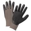 Anchor Brand Nitrile Coated Gloves, Large, Gray/Black ANR 101-6020-L