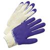 Anchor Brand Latex Coated Gloves, Mens, White/Blue ANR 101-6040