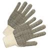 Anchor Brand PVC-Dot String-Knit Gloves, Mens, Knit-Wrist, Natural White, Dots 2 Side ANR 101-6705