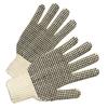 Anchor Brand PVC-Dot String-Knit Gloves, Mens, Knit-Wrist, Natural White, Dots 1 Side ANR 101-6710