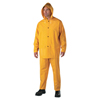 Anchor Brand Three-Piece Rainsuit, Jacket/Hood/Overalls, 0.35 mm PVC/Poly, Yellow, 2X-Large ANR 101-9000-2XL