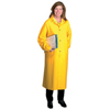 Anchor Brand Polyester Raincoat, 0.35 mm PVC/Polyester, Yellow, 48 In, 3X-Large ANR 101-9010-3XL