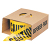 Anchor Brand Economy Barrier Tape, 3 In X 1,000 Ft, Yellow, Caution ANR 101-Y10003