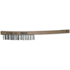 Anchor Brand Hand Scratch Brushes, 3 X 19 Rows, Stainless Steel Wire, Curved Wood Handle ANR 102-388SS