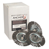 Anchor Brand Stringer Bead Wheel Brush, 6 In D X 6 In W, 0.02 In Carbon Steel Wire ANR 102-6S58