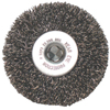 Anchor Brand Crimped Wheel Brush, 3 In D, .008 In Carbon Steel Wire ANR 102-CFX-3