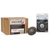 Anchor Brand Crimped Wheel Brush, 6 In D, .014 In Carbon Steel Wire ANR 102-6C1