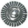 Anchor Brand Stringer Bead Wheel Brush, 4 In D X 4 In W, 0.02 Carbon Steel Wire, Clamshell Pk ANR 102-R4S58