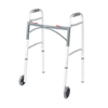 "Walkers: Drive Medical - Deluxe Two Button Folding Walker with 5"" Wheels"