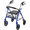 Poly Filters Ring Panel Link Filters: Drive Medical - Four Wheel Walker Rollator with Fold Up Removable Back Support, Blue