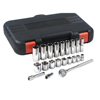 Anchor Brand 22 Piece Standard And Deep Socket Sets, 3/8 In, 6 Point ANR 103-07-846