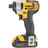 DeWalt 20 V Max Lithium Ion 1/4 In Impact Driver Kit (1.5Ah) DEW 115-DCF885C2