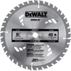 DeWalt Portable Construction Saw Blades, 8 1/4 In, 40 Teeth DEW 115-DW3184