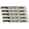 """DeWalt """"U"""" Shank Metal Cutting Jig Saw Blades DEW 115-DW3726-5"""