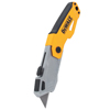 Tools: DeWalt - Folding Retractable Auto-Load Pocket Knives, 6 3/4 In, Retractable Blade, Yellow