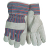 Safety-zone-leather-gloves: Memphis Glove - Economy Leather Patch Palm Glove, Large, Cow Split Shoulder Leather