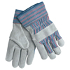 Safety-zone-leather-gloves: Memphis Glove - Leather Palm Chore Gloves, X-Large, Gray/Blue/Red/Black