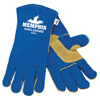 safety zone leather gloves: Memphis Glove - Select Shoulder Welding Gloves, Cowhide, X-Large, Blue