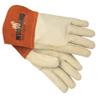 hand protection: Memphis Glove - Mig/Tig Welders Gloves, Premium Grade Grain Goatskin, Large, Beige
