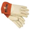 hand protection: Memphis Glove - Mig/Tig Welders Gloves, Premium Grain Cowhide, Medium, Beige