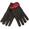 hand protection: Memphis Glove - Fleece-Lined Jersey Gloves, Large, Brown/Red