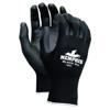 hand protection: Memphis Glove - PU Coated Gloves, Medium, Black/Blue