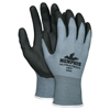 Safety-zone-nylon-gloves: Memphis Glove - Ultratech HP t Coated Gloves, Large, Gray/Black/White