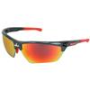 MCR Safety Dm3 Safety Glasses, Fire Mirror Poly Bossman Mirror Duramass Hc, Gunmetal CRW 135-DM131R