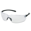 Crews Blackkat Safety Glasses, Clear Polycarb Scratch-Resistant Lenses, Polycarb Frame CRW 135-BL110