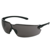 Crews Blackkat Safety Glasses, Gray Polycarb Scratch-Resistant Lenses CRW 135-BL112