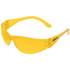 Crews Checklite Safety Glasses, Amber Lenses, Amber Frame CRW 135-CL114