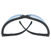 Crews Klondike Protective Eyewear, Light Blue Polycarbonate Lenses, Black Frame CRW 135-KD113