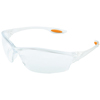 Crews Law Protective Eyewear, Polycarbonate Anti-Fog Clear Lenses, Clear Nylon Frame CRW 135-LW310AF