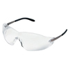 Crews Blackjack Chrome FrameClear Lens Safety Glass ORS 135-S2110