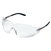 Crews Blackjack Protective Eyewear, Clear Polycarbonate Lenses, Chrome Metal Frame CRW 135-S2110