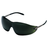 Crews Blackjack Protective Eyewear, Green 5.0 Polycarbonate Lenses, Chrome Metal Frame CRW 135-S21150