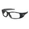 Crews Swagger Safety Glasses, Clear Polycarbonate Lenses, Black Polycarbonate Frame CRW 135-SR110