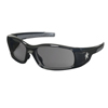 Crews Swagger Safety Glasses, Gray Polycarbonate Lenses, Black Polycarbonate Frame CRW 135-SR112