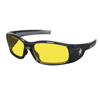Crews Swagger Safety Glasses, Amber Polycarbonate Lenses, Polycarbonate Frame CRW 135-SR114