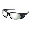 Crews Swagger Safety Glasses, Silver Mirror Polycarbonate Lenses, Black Frame CRW 135-SR117