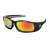 Crews Swagger Safety Glasses, Fire Mirror Polycarbonate Lenses, Black Frame CRW 135-SR11R