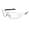 Crews Swagger Safety Glasses, Clear Polycarbonate Lenses, White Polycarbonate Frame CRW 135-SR120