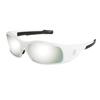 Crews Swagger Safety Glasses, Silver Mirror Polycarbonate Lenses, White Frame CRW 135-SR127