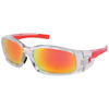 Crews Swagger Safety Glasses, Fire Mirror Lenses, Clear/Red Frame CRW 135-SR14R