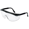 Crews Stratos Spectacles, Clear Polycarbonate Lenses, Black Nylon Frame CRW 135-SS110