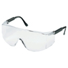 Crews Tacoma Protective Eyewear, Clear Polycarbonate Lenses, Black Frame CRW 135-TC110